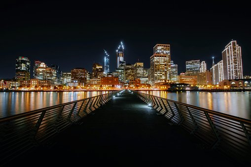 photo of san francisco at night